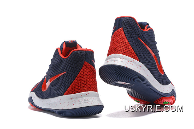 fa5ddf7fd5b2 Best New Release Nike Kyrie 3 Navy Blue Red