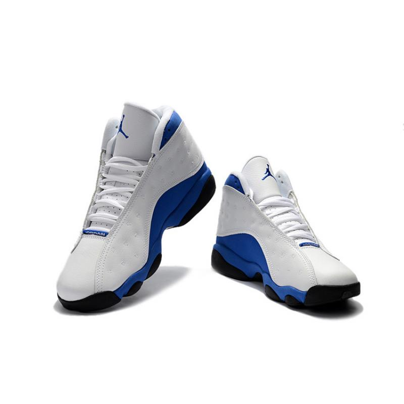 "sneakers for cheap 969c2 e6015 ... Air Jordan 13 ""Hyper Royal"" White Hyper Royal-Black 414571-117 ..."