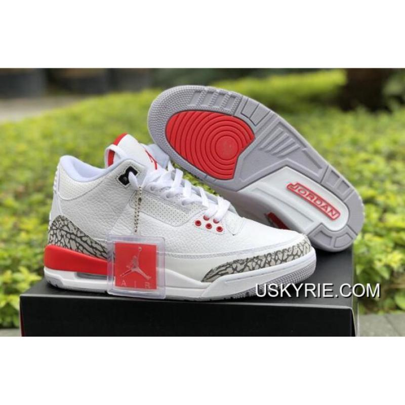 "buy online c8718 6ce75 Best Outlet Air Jordan 3 ""Katrina"" White/Cement Grey/Black-Fire Red"