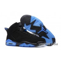 696f17c286c5d8 Best Super Deals Air Jordan 6 Black Blue Basketball Shoes