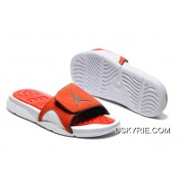 c2edf603ca5837 Air Jordan Hydro IV Retro White Orange Slide Slippers Best Authentic