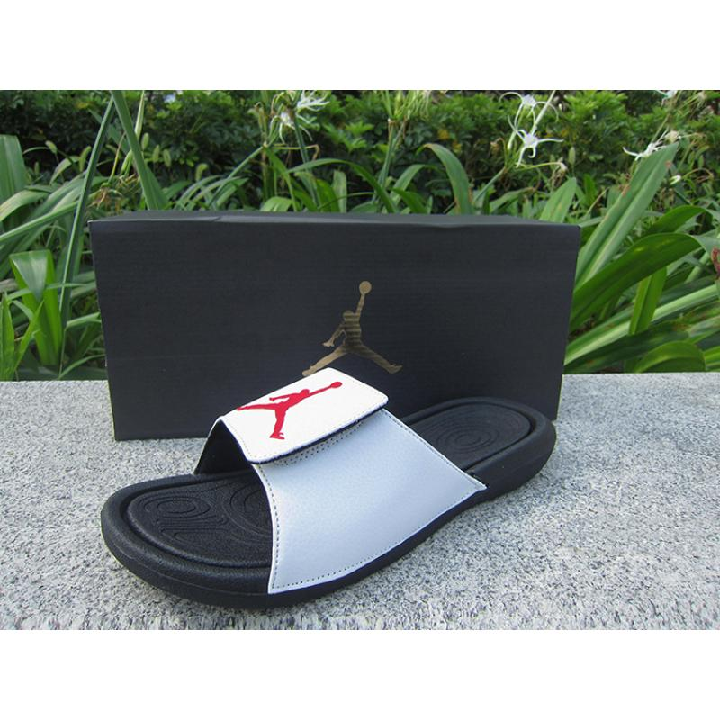 2169890bd Air Jordan Hydro 6 Sandals Black White Red Best Super Deals ...