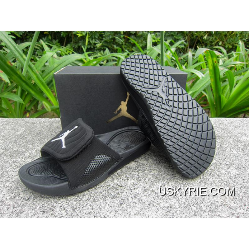 0680d29a07cdda ... WMNS Jordan Hydro V Retro Sandals All Black Best Copuon ...