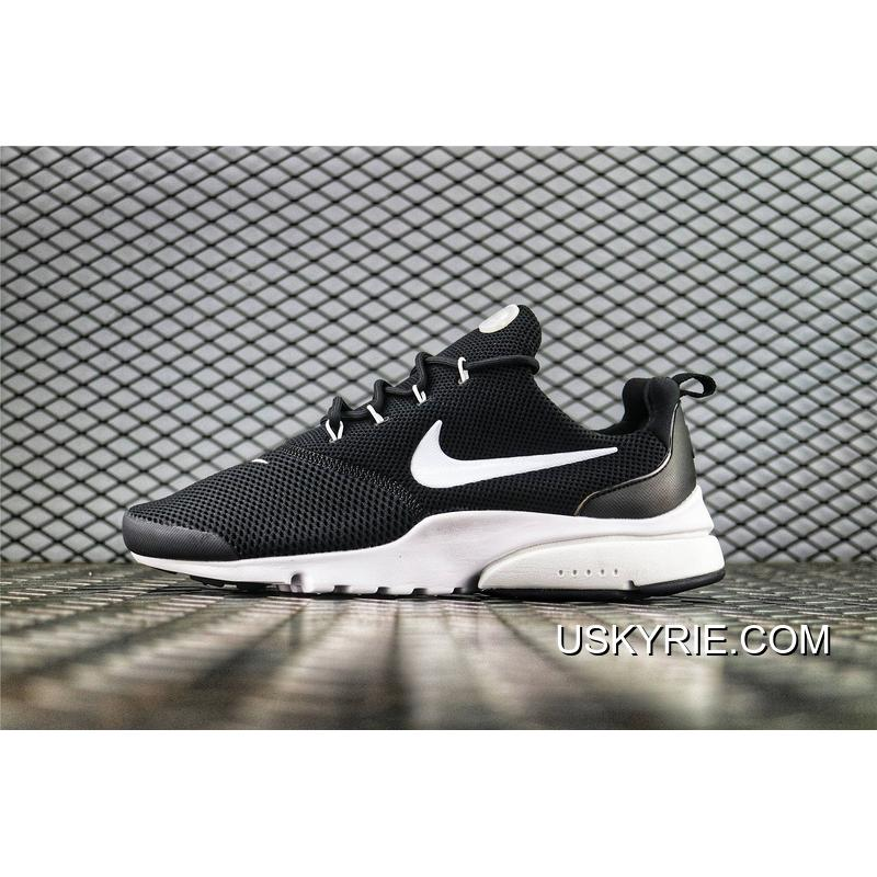 33a41b8209326 Nike Presto Fly 2018 Summer Breathable Running Shoes Simplified Black White  SKU 908019 002 Men Shoes ...