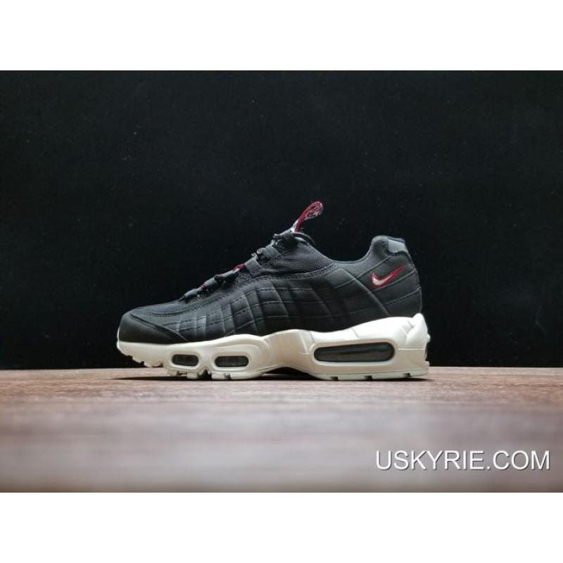 "e8003e35955a Best Discount Nike Air Max 95 ""Pull Tab"" Black Sail-Gym Red ..."