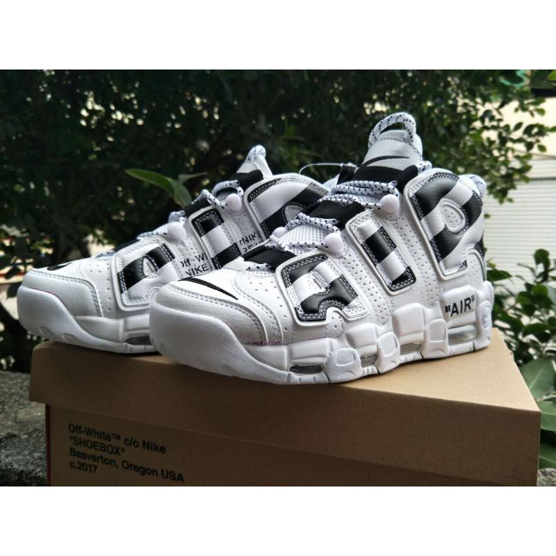 "official photos b7060 b7318 ... Best Latest Off-White X Nike Air More Uptempo ""White Black"" ..."
