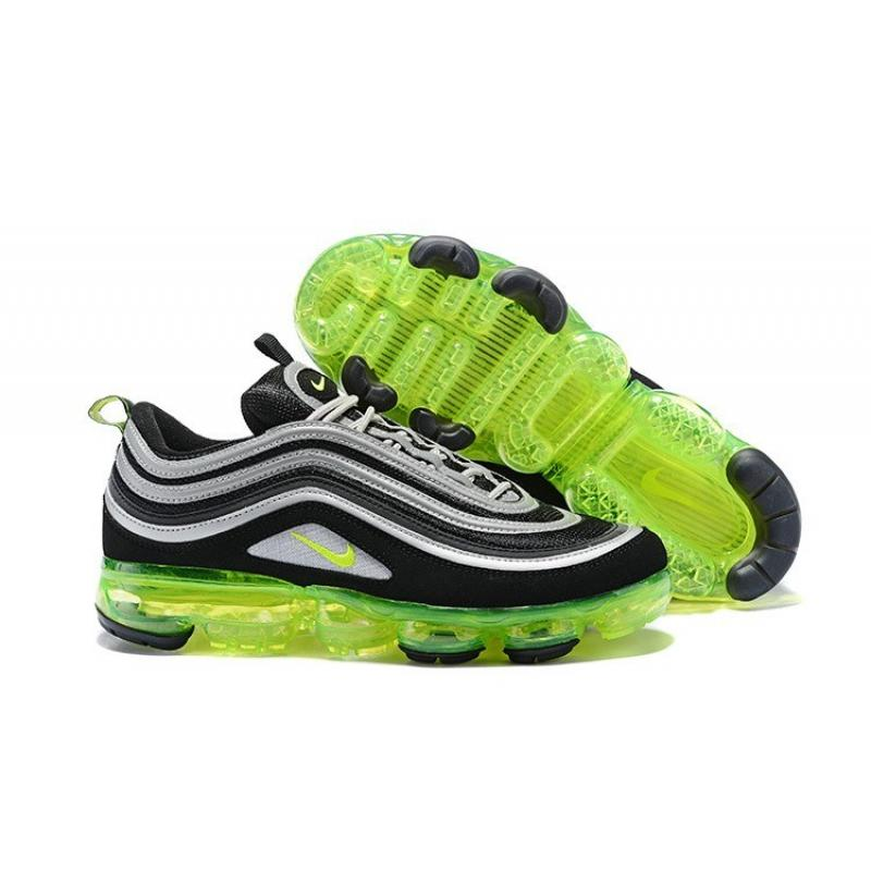 "Nike Air VaporMax 97 ""Neon"" Black Volt Metallic Silver-White Best ... 46d9b7fb6"