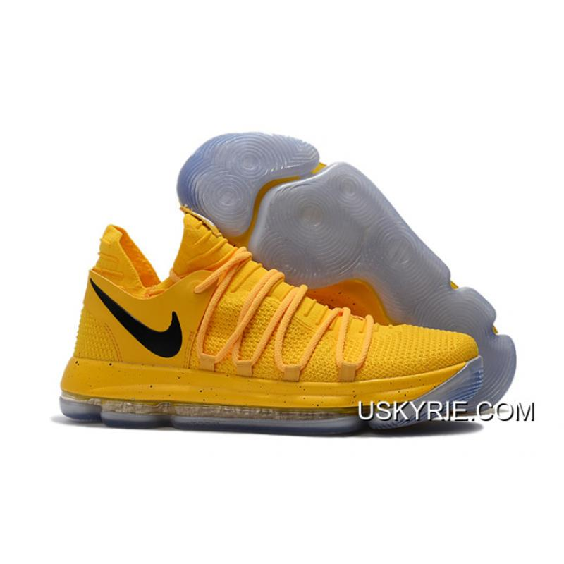 Nike KD 10 Yellow Black Best Latest ... 26fb1b290