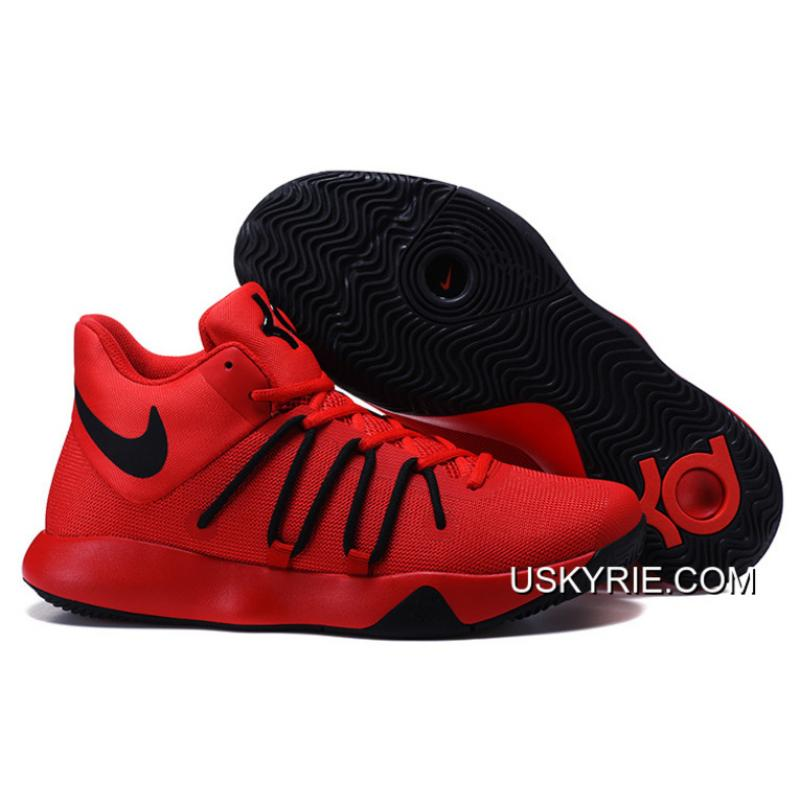 kyrie shoes red and black