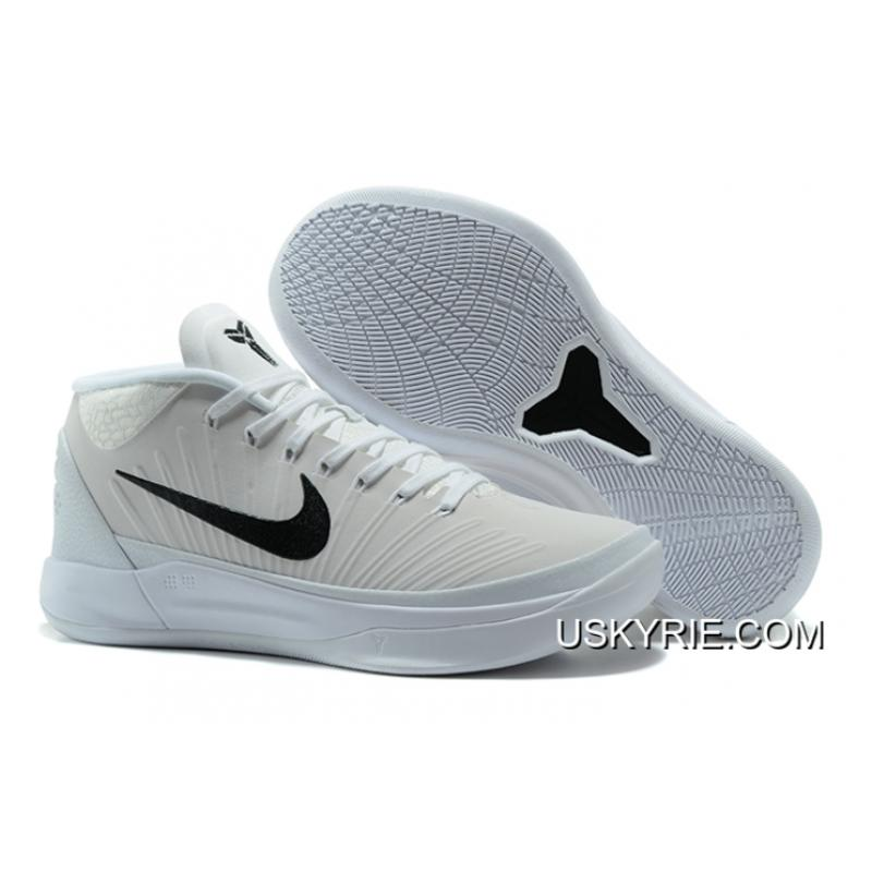 sports shoes b5a52 d8c7f Best Free Shipping Nike Kobe A.D. Mid White Black ...
