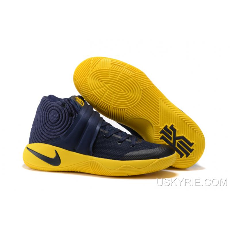 """detailed pictures fba4b 6ae71 Best New Style Nike Kyrie 2 """"Cavs"""" Midnight Navy University Gold ..."""