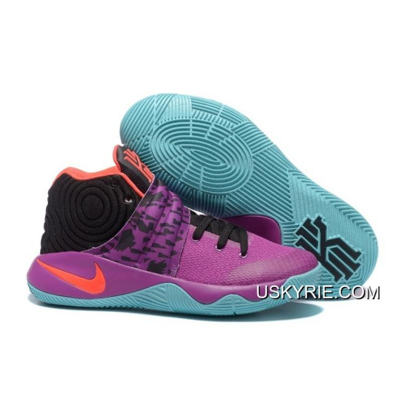 "hot sale online cfee0 cca77 Nike Kyrie 2 ""Easter"" Purple/Mint-Red-Black Best Outlet, Price ..."