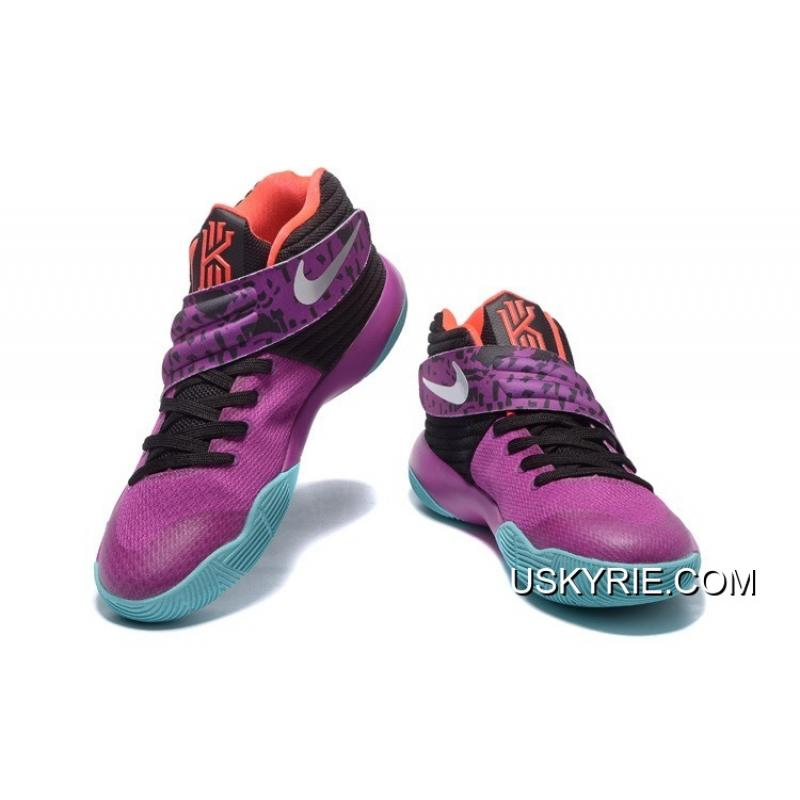 """bc405f96aa97 ... Nike Kyrie 2 """"Easter"""" Purple Mint-Red-Black Best Outlet ..."""