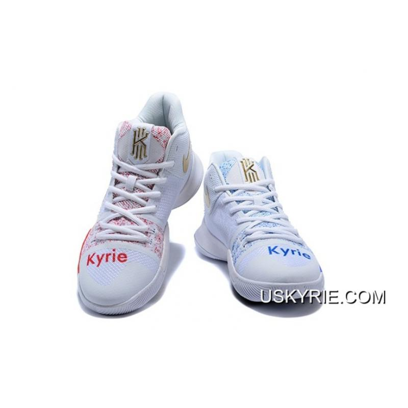 "bd1bc7cae41 ... Nike Kyrie 3 ""Coca-Cola"" Custom White Red Blue Best Discount ..."