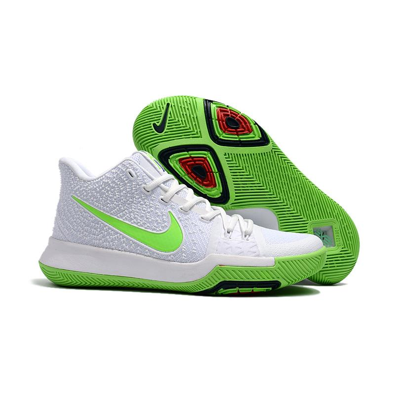 """f75543a07ce9 Best New Style Nike Kyrie 3 """"Mountain Dew"""" White Light Green ..."""