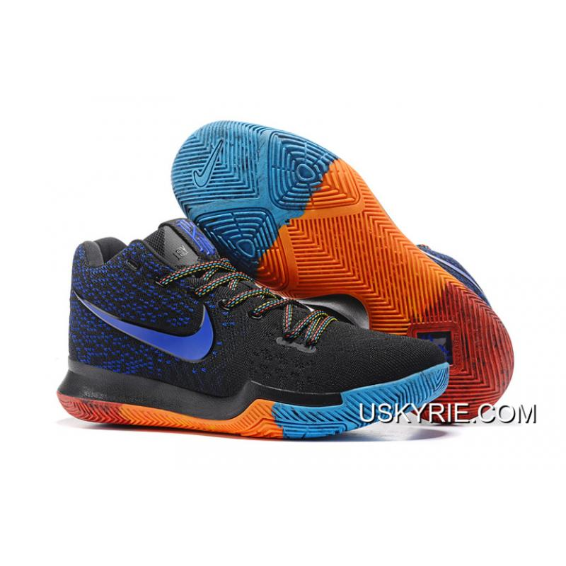 4cdb69be8a9a Nike Kyrie 3 Black Royal Blue Red Best Top Deals ...