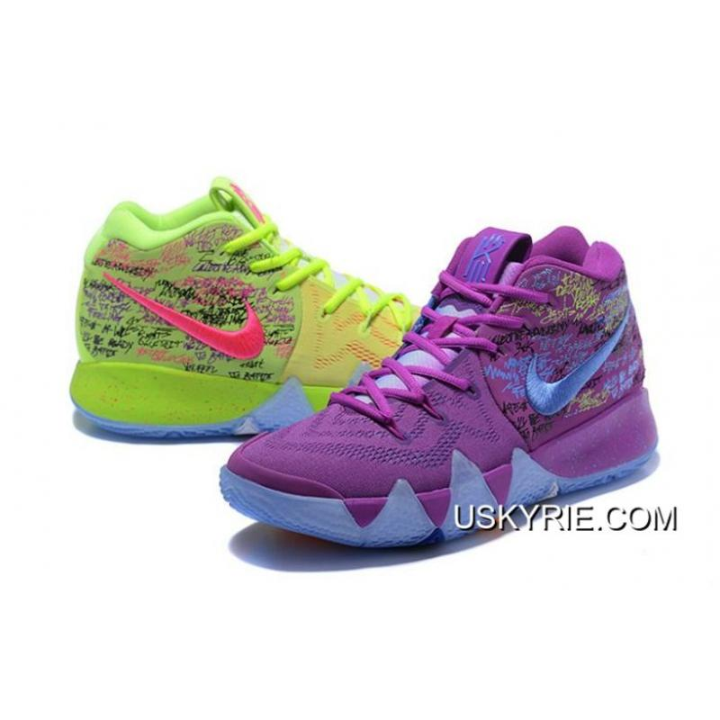 newest f06ad 561bc Men Nike Kyrie 4 Confetti Basketball Shoes SKU102721-373 Bes