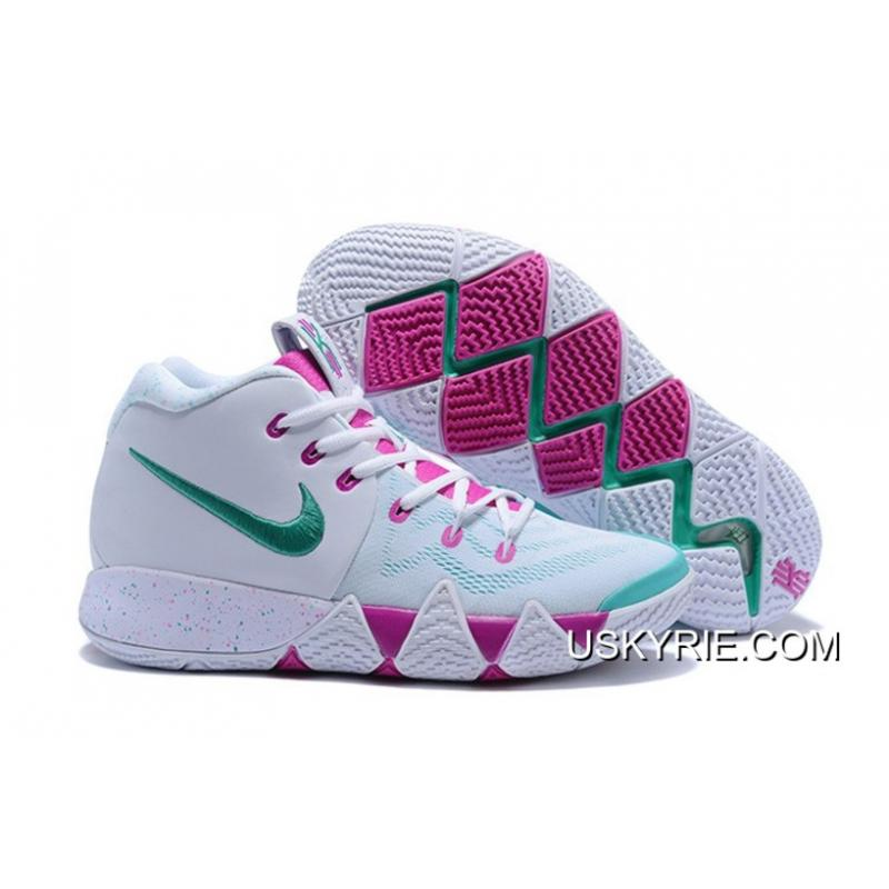7d6ef913cb87 Big Discount Nike Kyrie 4 White Noble Red-Mint Green ...