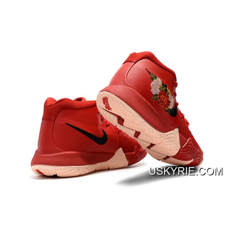 """ee78a29b7384 ... Best Outlet Nike Kyrie 4 """"Floral"""" Red Peony ..."""