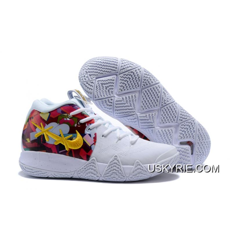 b039228a2b4 Best Discount Nike Kyrie 4 White Multi-Color ...