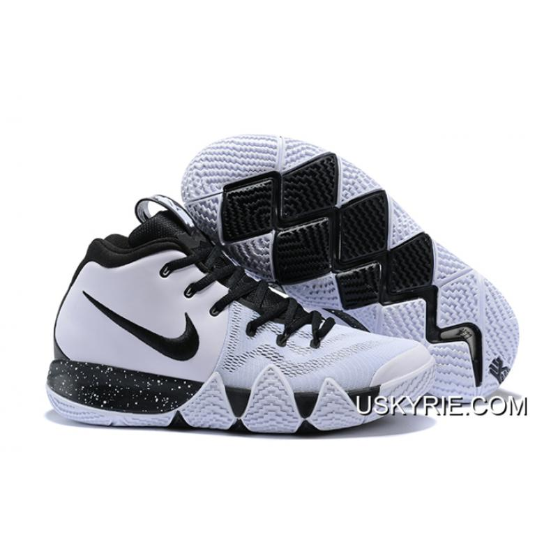 97b09be0be26 Best Latest Nike Kyrie 4 White Black ...