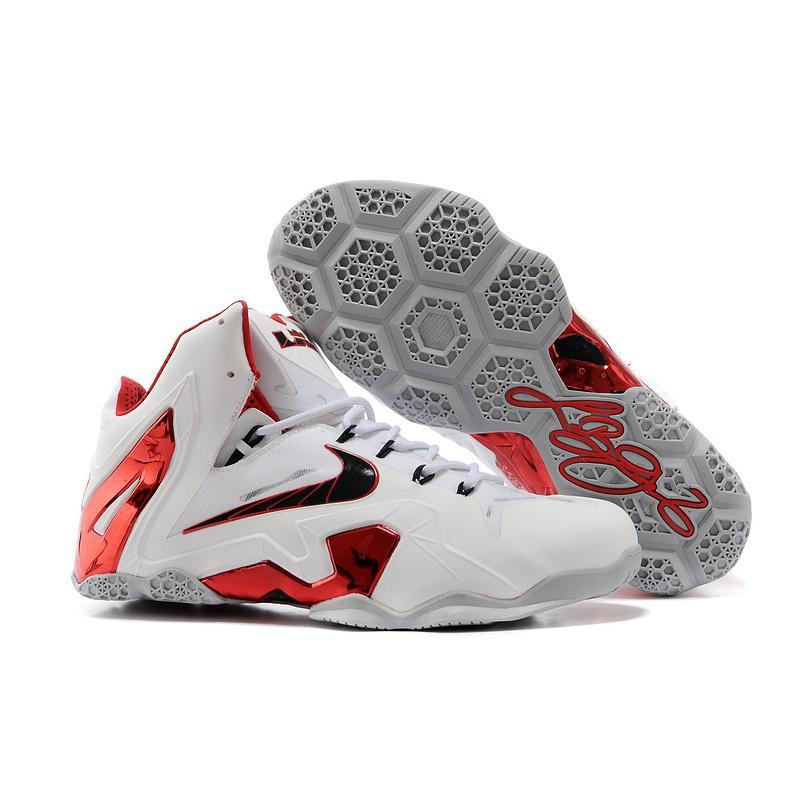 "Best Free Shipping Nike LeBron 11 Elite ""Home"" PE White-Red Wolf ... f5806abdb"