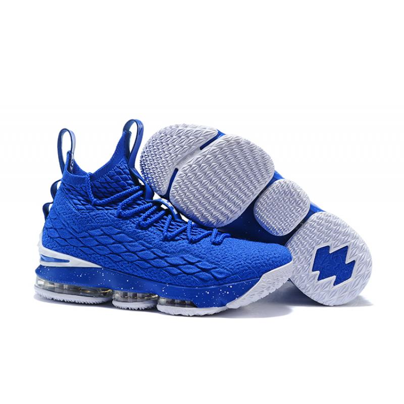 307164e1ebebb Super Deals Nike LeBron 15 Blue White ...