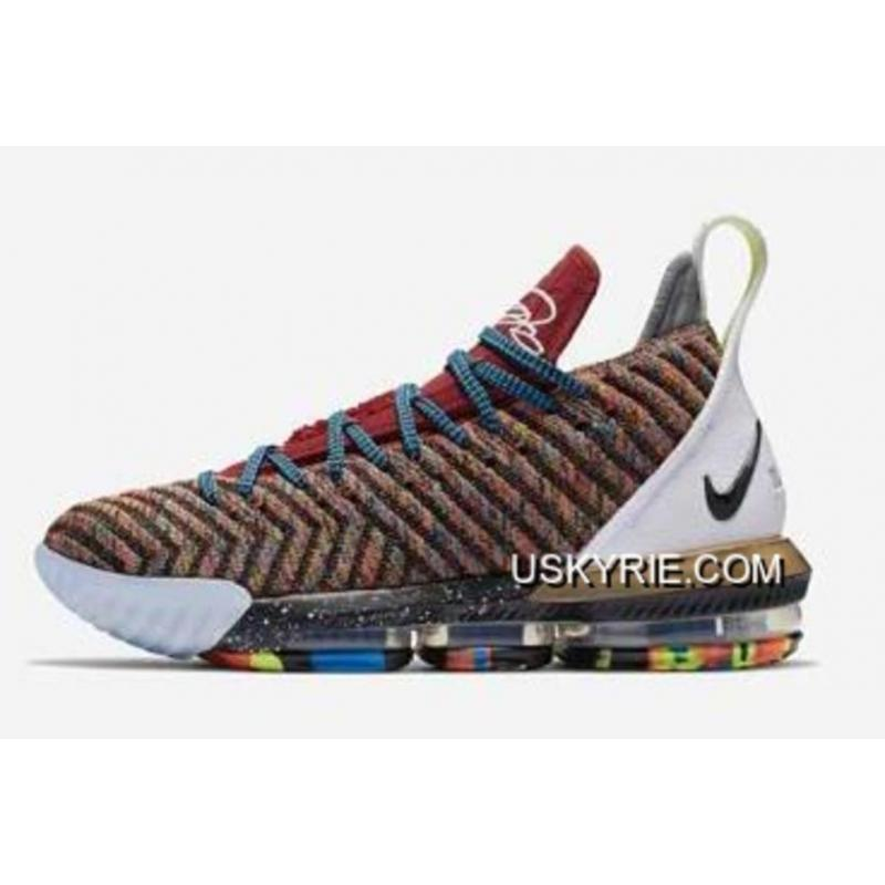 "2eb6607973c What The Nike LeBron 16 ""1 Thru 5"" Multi-Color BQ6580-900 Top Deals ..."