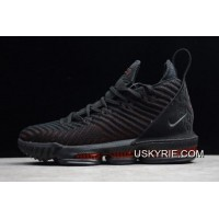 "d3d0db7359d New Style Nike LeBron 16 ""Fresh Bred"" Black University Red AO2595-002"
