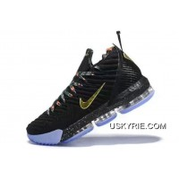 "pretty nice d7a61 3081d Free Shipping Nike LeBron 16 ""Watch The Throne"" Black Metallic Gold-Rose"