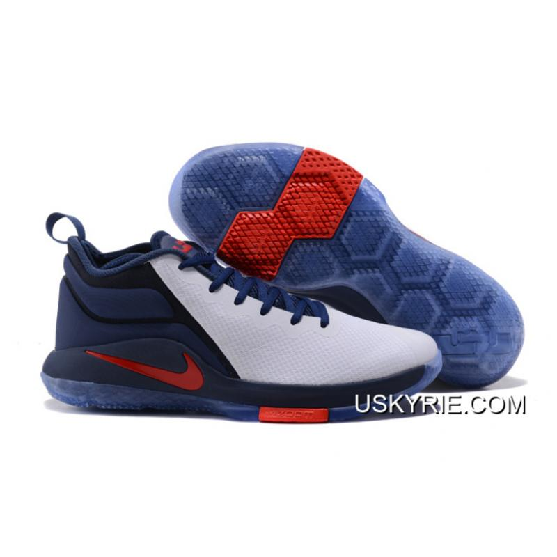 """premium selection ff3b6 a2b0b Best New Year Deals Nike LeBron Zoom Witness 2 """"USA"""" Midnight Navy White ..."""