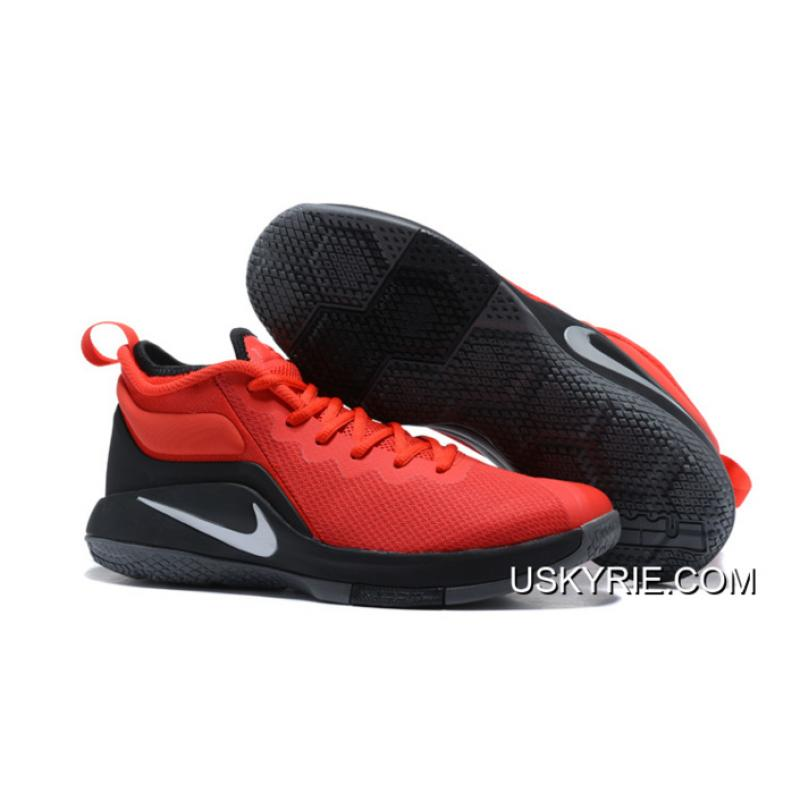 Nike LeBron Zoom Witness 2 Red Black Basketball Shoes Best Top Deals ... 4ce3d65b6df1