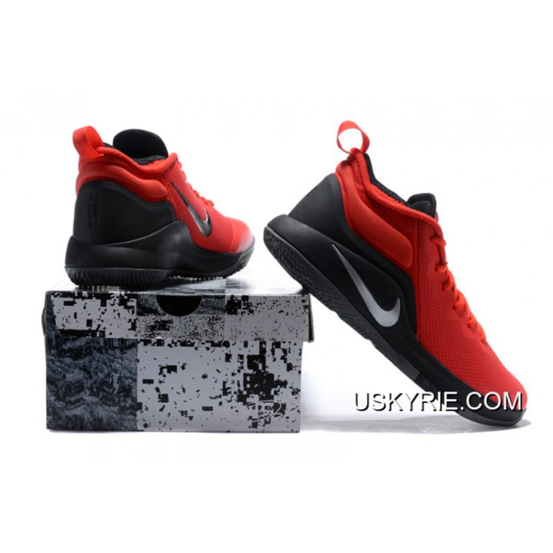 641cb3086b953 ... Nike LeBron Zoom Witness 2 Red Black Basketball Shoes Best Top Deals