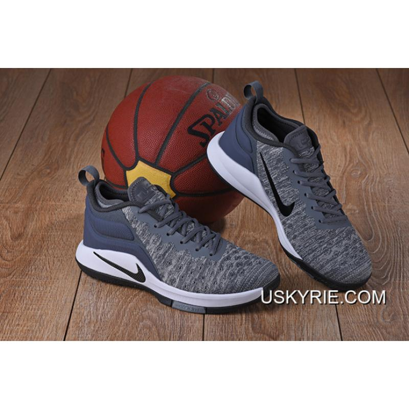 2de87c094c4c Best Super Deals Nike Lebron Witness 2 Flyknit Wolf Grey White-Black ...