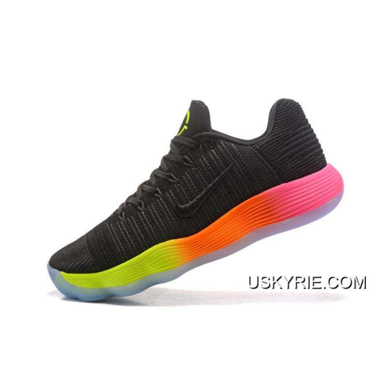 "... Best New Style Nike React Hyperdunk 2017 Low Flyknit ""Unlimited"" Black  Colorful ... 6d974a997"