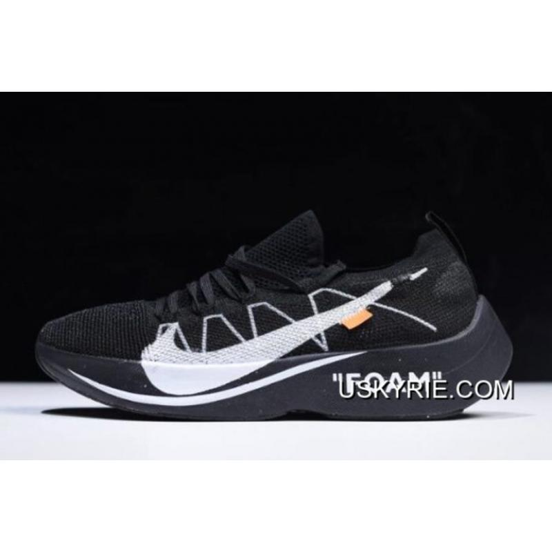 84f1f9ce35500 Women Men Discount Off-White X Nike Vapor Street Flyknit Black Anthracite-  ...