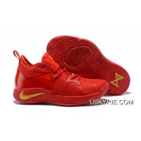 2343a01b2bf7 Nike PG 2 University Red Gold Best New Style