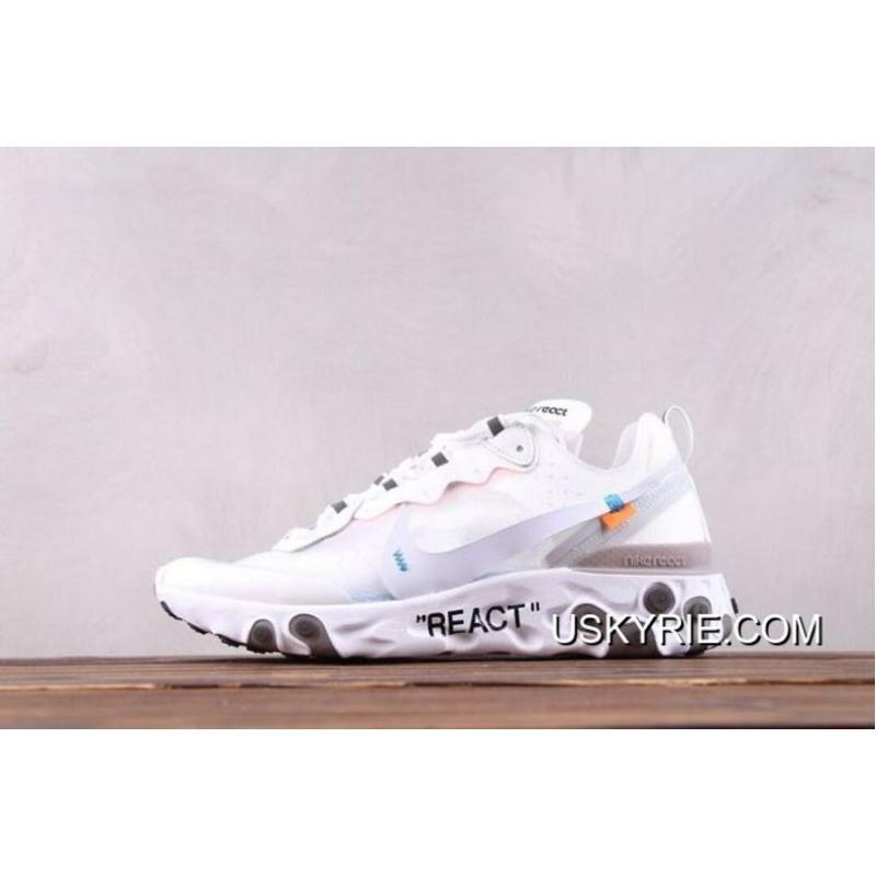 new product 82a2c 94cb0 Outlet Men Nike React Element 87 X OFF-WHITE Running Shoe SKU 107634- ...