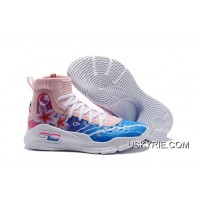 "77fa8c625fb Best Super Deals Under Armour Curry 4 ""Floral"" White Pink Blue"
