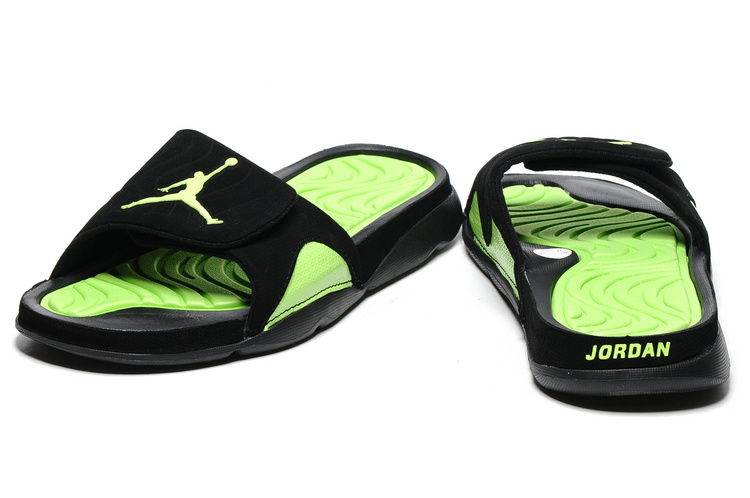 check out a9a1d 42efa Best New Year Deals Air Jordan Hydro IV Retro Black Green Slide Slippers