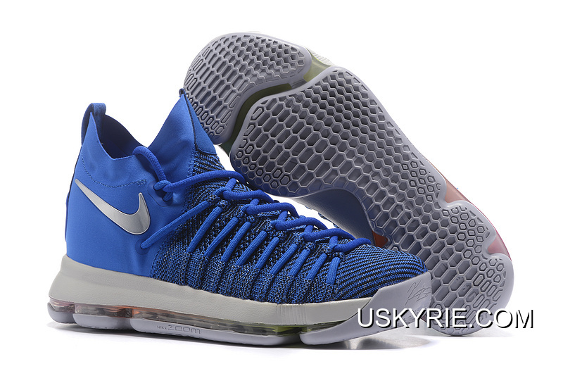 07ae5db5a31 Best Top Deals Nike Zoom KD 9 Elite Game Royal Silver Basketball Shoes