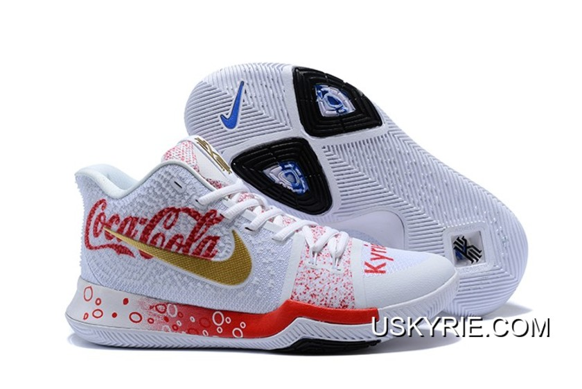 kyrie 3 white and red