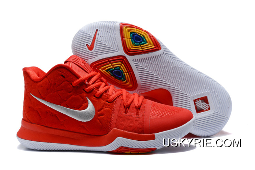 "63265018d24 Best Top Deals Nike Kyrie 3 ""University Red Sued"""