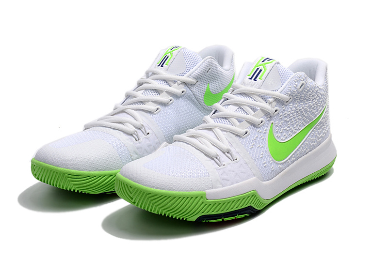 "huge discount a356c d5fa8 Best New Style Nike Kyrie 3 ""Mountain Dew"" White Light Green"