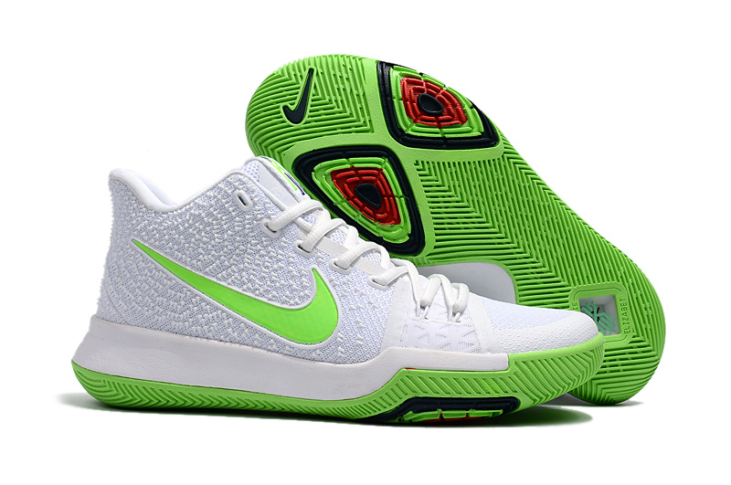 kyrie 3 green and white