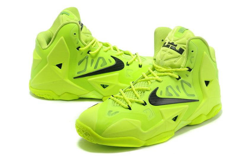check out 79a81 fa7f5 Best Free Shipping Nike LeBron 11 Volt Green Black