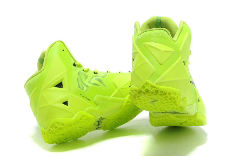 check out 9ebcb c3adf Best Free Shipping Nike LeBron 11 Volt Green Black