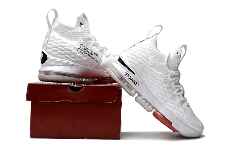 X Nike LeBron 15 White And Red