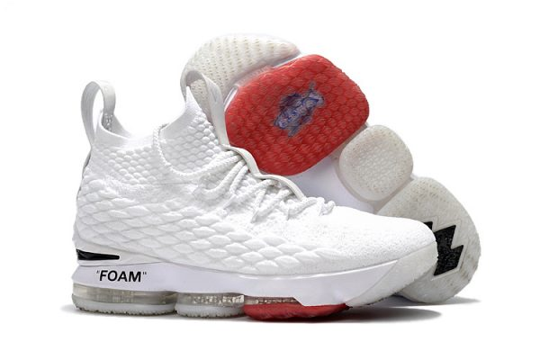 info for 15430 b382e New Year Deals OFF-WHITE X Nike LeBron 15 White And Red