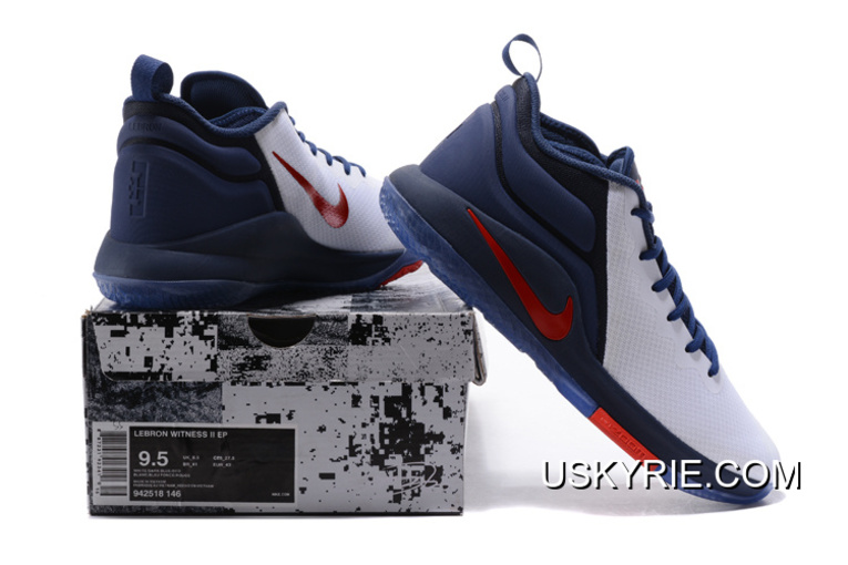 """e48c22aacd0d Best New Year Deals Nike LeBron Zoom Witness 2 """"USA"""" Midnight Navy White"""